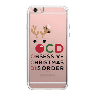 OCD Obsessive Christmas Disorder Cute Clear Phonecase