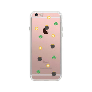 St Patrick's Day Pattern Clear Phone Case Cute Design Jelly Case