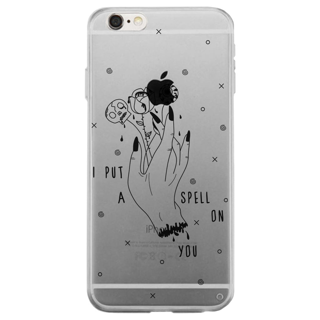 Gypsy Hand Spell Clear Phone Case Slim Fit Halloween Theme Gift
