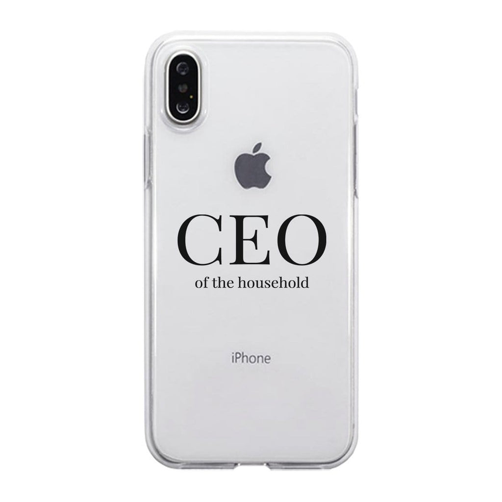 CEO Of The Household Clear PhoneCase Funny Mom Gift For Christmas