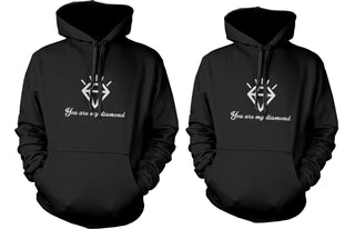 His and Her Couple Outfit You Are My Diamond Matching Hoodies for Couples