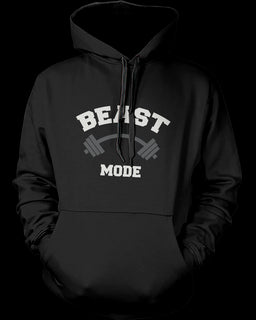 Beauty Mode and Beast Mode Couple Hoodies Cute Matching Outfit for Couples