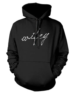Hubby and Wifey Cute Couple Hoodies Funny Matching Outfit for Couples