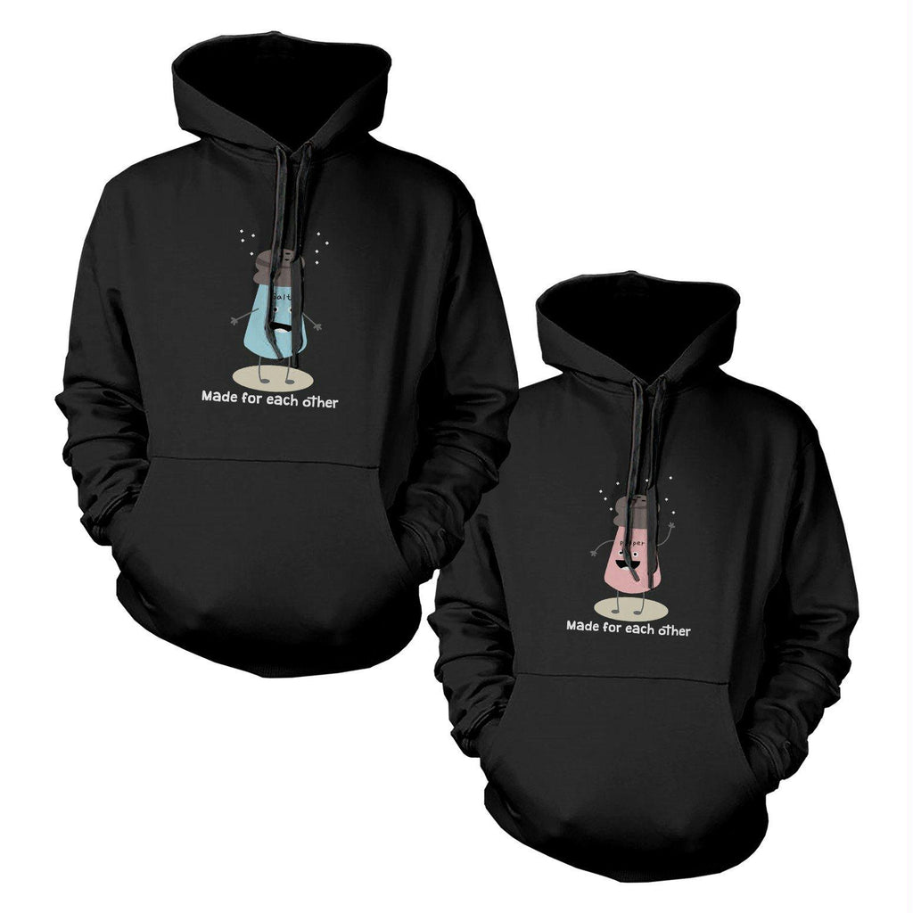 Salt And Pepper Couple Matching Hoodies Cute Hooded Sweatshirts