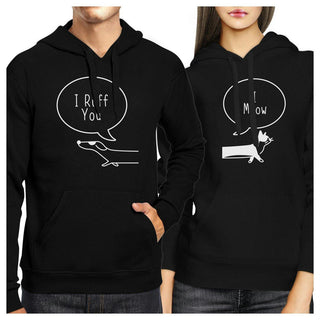 I Ruff You And I Meow Couple Hoodies Christmas Gift For Pet Lovers