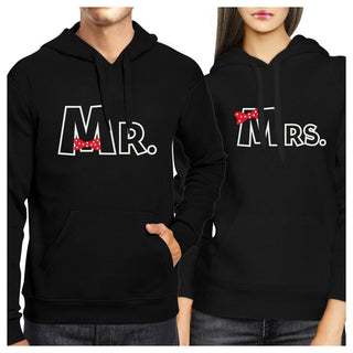 Mr And Mrs Ribbon Couple Hoodies His And Hers Wedding Gifts