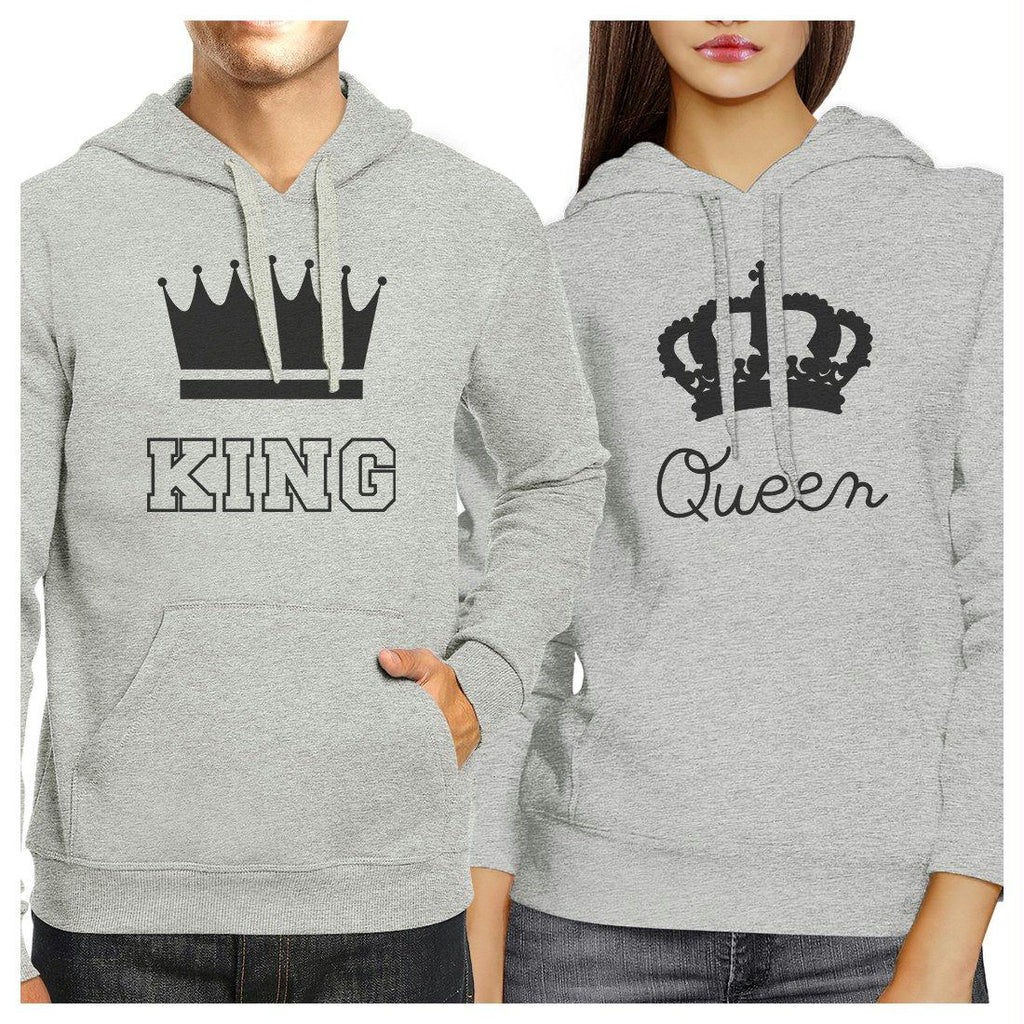King And Queen Matching Hoodies Pullover Graphic Cute Couples Gifts