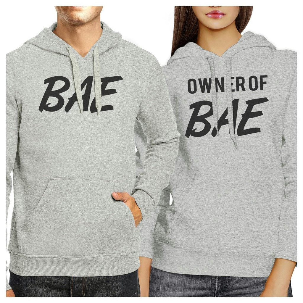 Bae And Owner Of Bae Matching Couple Grey Hoodie