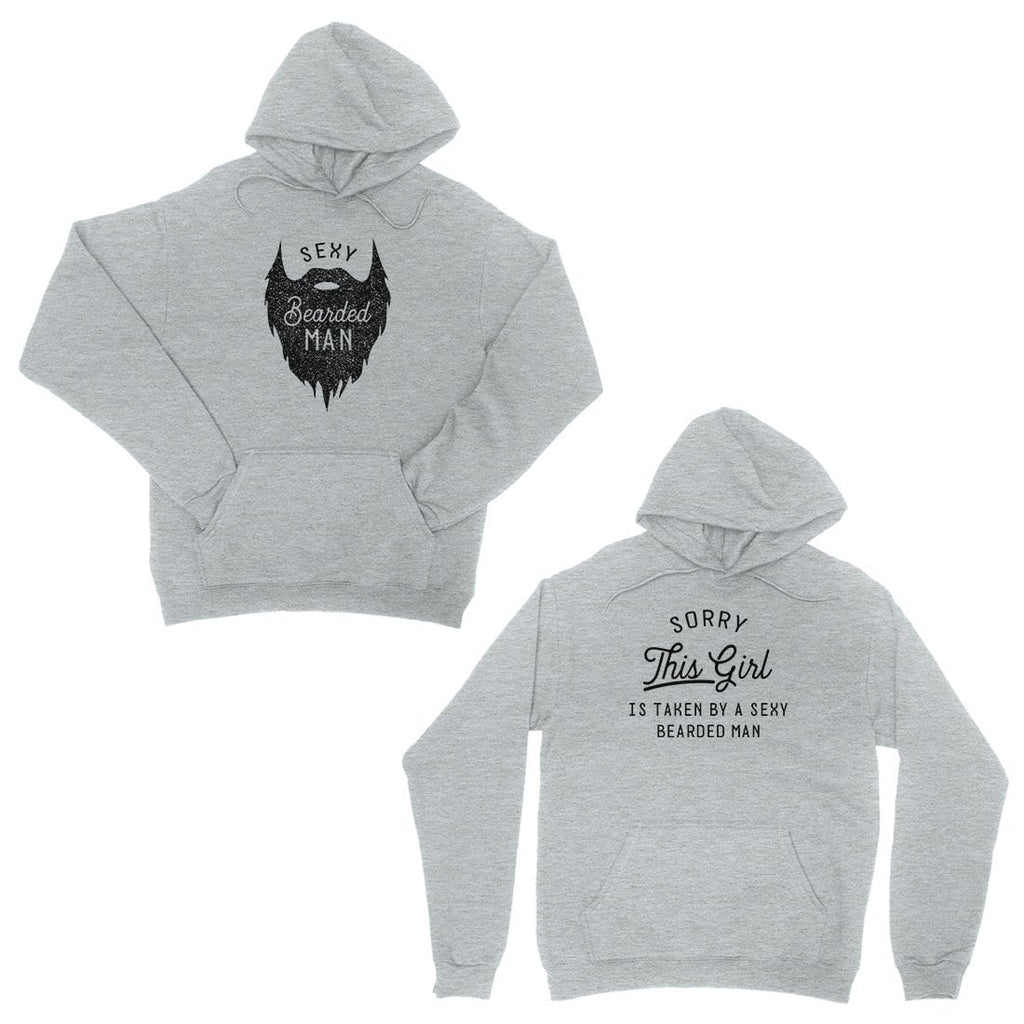 Taken By Sexy Bearded Man Grey Matching Hoodies For Anniversary