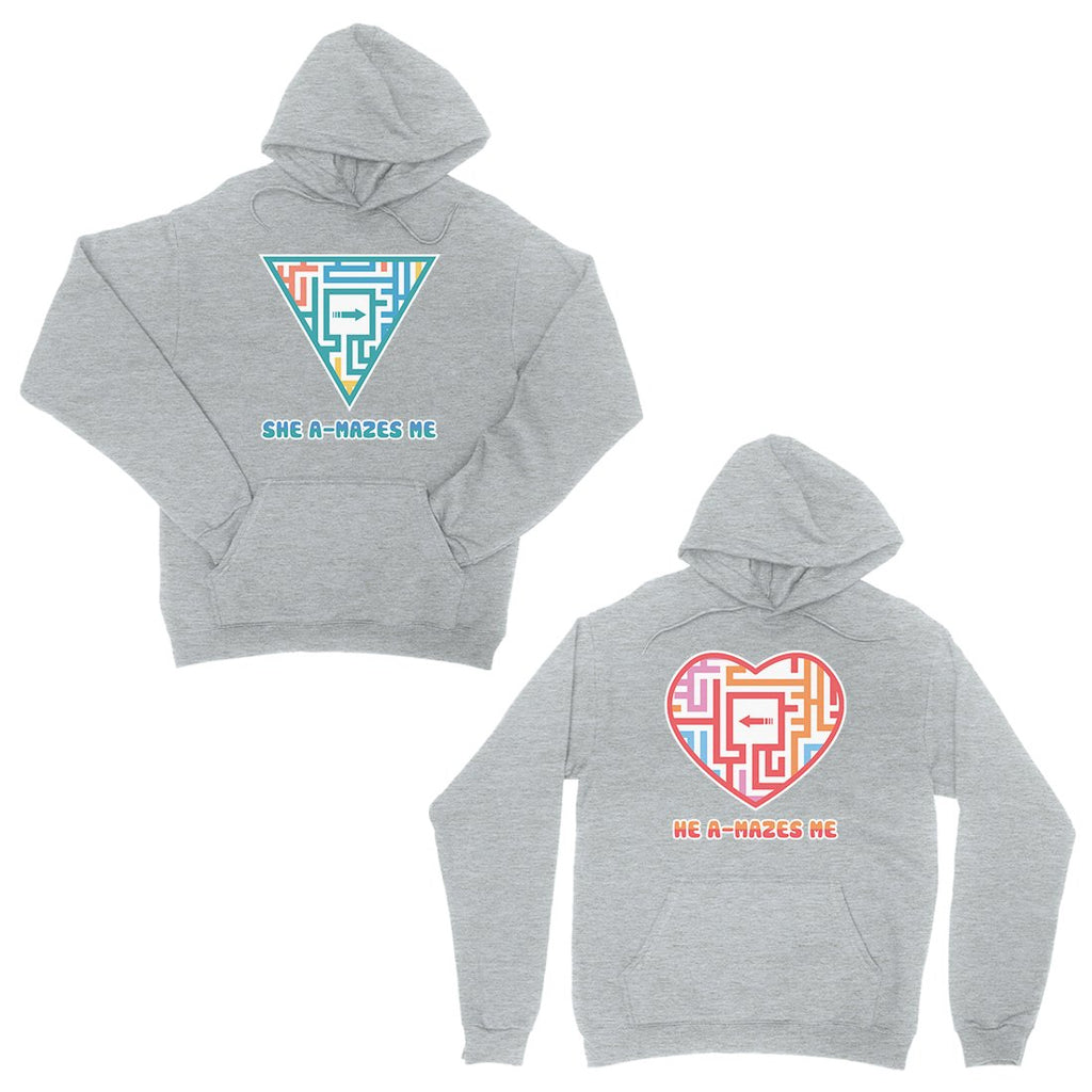 A-Mazes Me Grey Matching Hoodies Pullover Cute Valentine's Day Gift