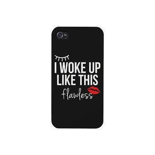 Flawless Funny Phone Case Cute Graphic Design Printed Phone Cover