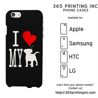 I Love My Dog Black Funny Phone Case Cute Graphic Design Phone Cover