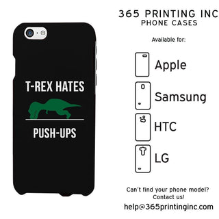 T-Rex Hates Push-Ups Funny Phone Case Cute Graphic Design Phone Cover