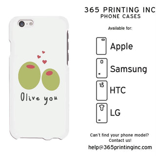 Olive You Funny Phone Case Cute Graphic Design Printed Phone Cover
