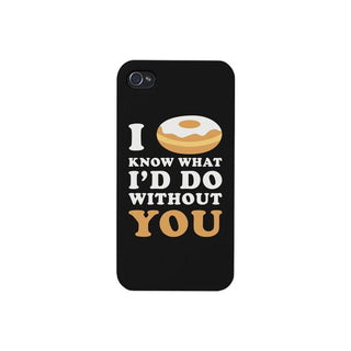 I Doughnut Know Black Phone Case Cute Graphic Design Ultra Slim