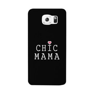 Chic Mama Black Phone Case Lovely Design Gifts For Mothers Day
