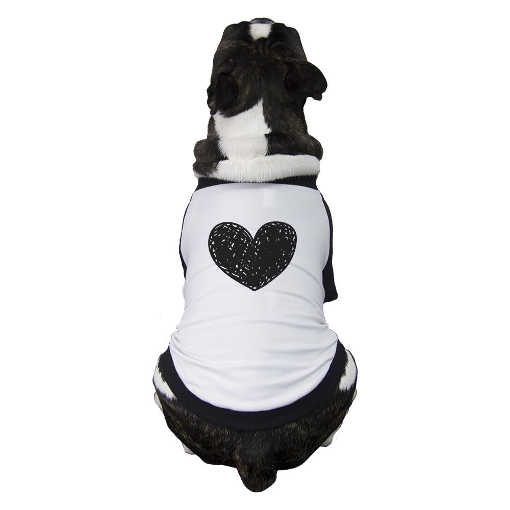 Love Heart Family-Baby Pets Black And White Baseball Shirt