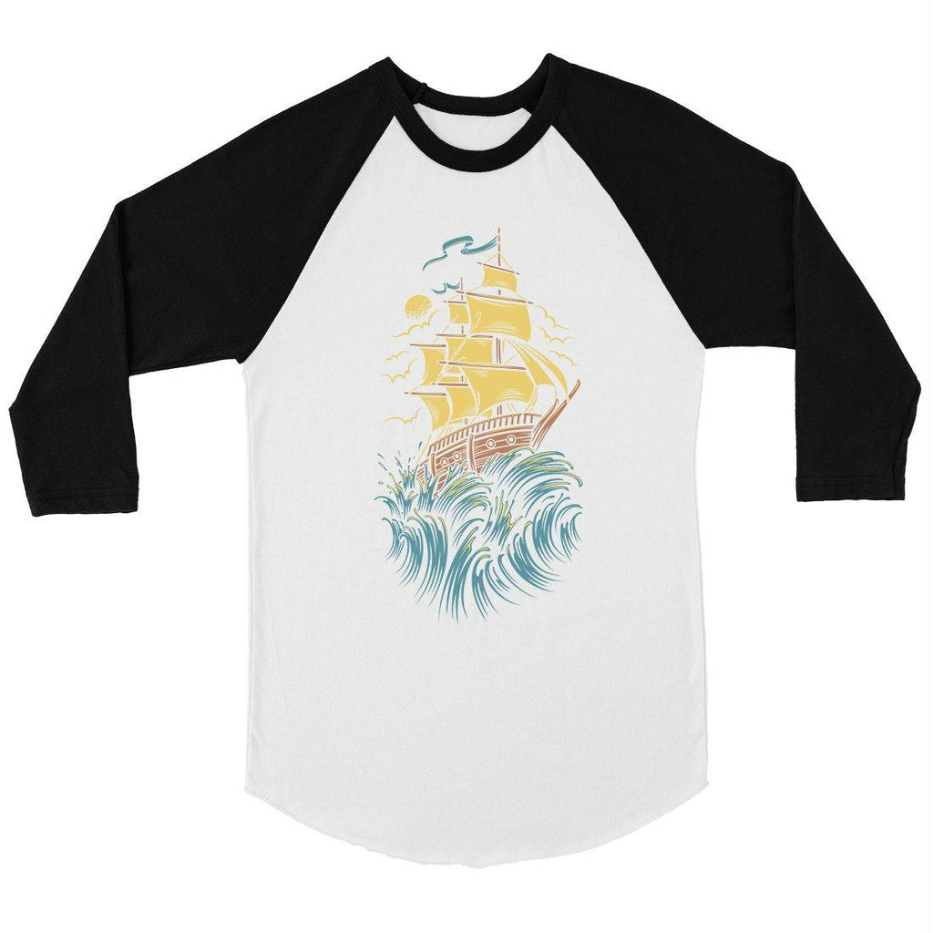 Sailing Boat Mens Baseball Shirt