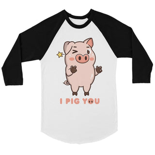 I Pig You Mens Baseball Shirt Funny Valentine's Day Anniversay Gift