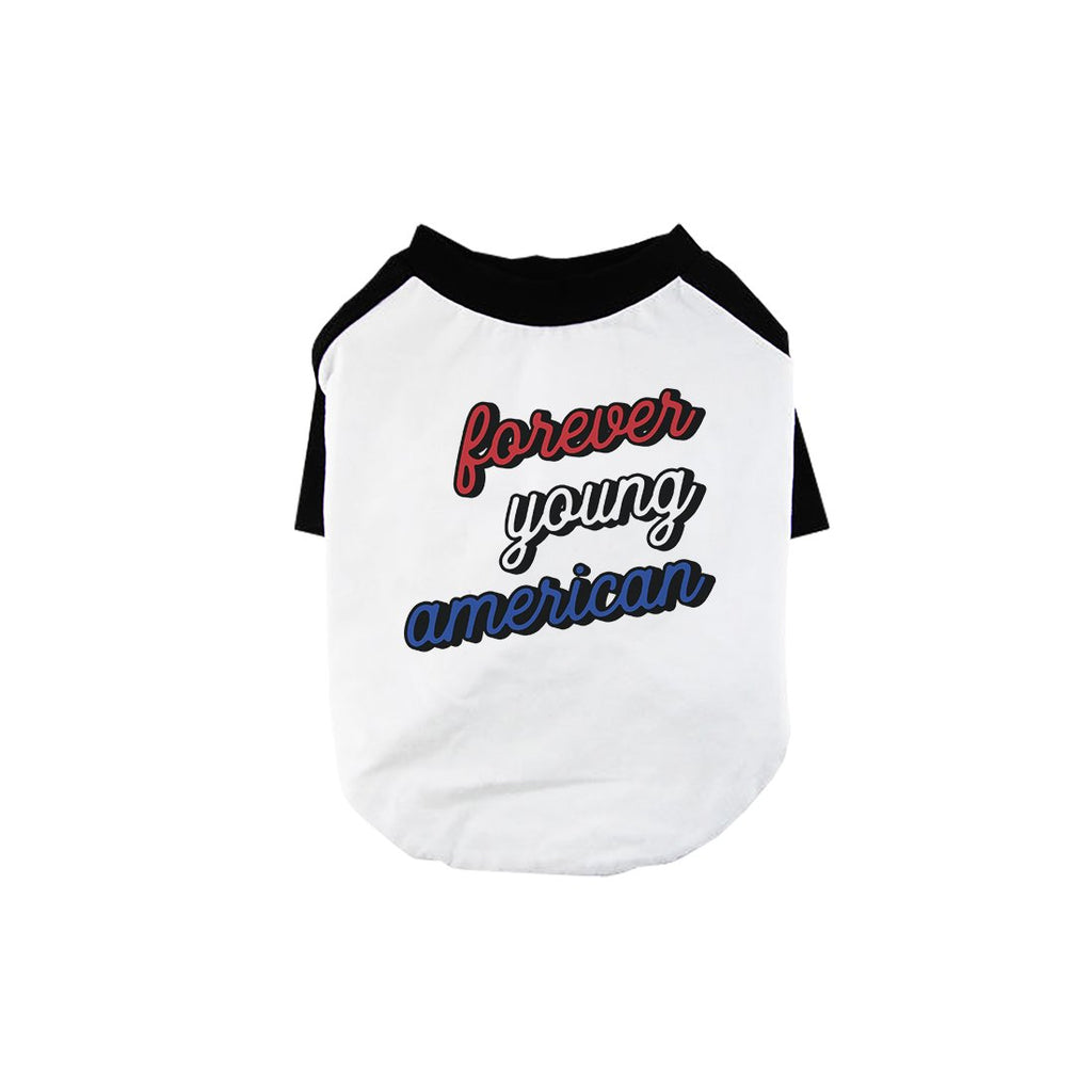 365 Printing Forever Young American Pet Baseball Shirt for Small Dogs Gift Ideas