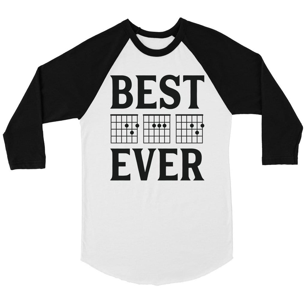 Best Dad Ever Guitar Chord Mens Baseball Shirt Motivational Cool