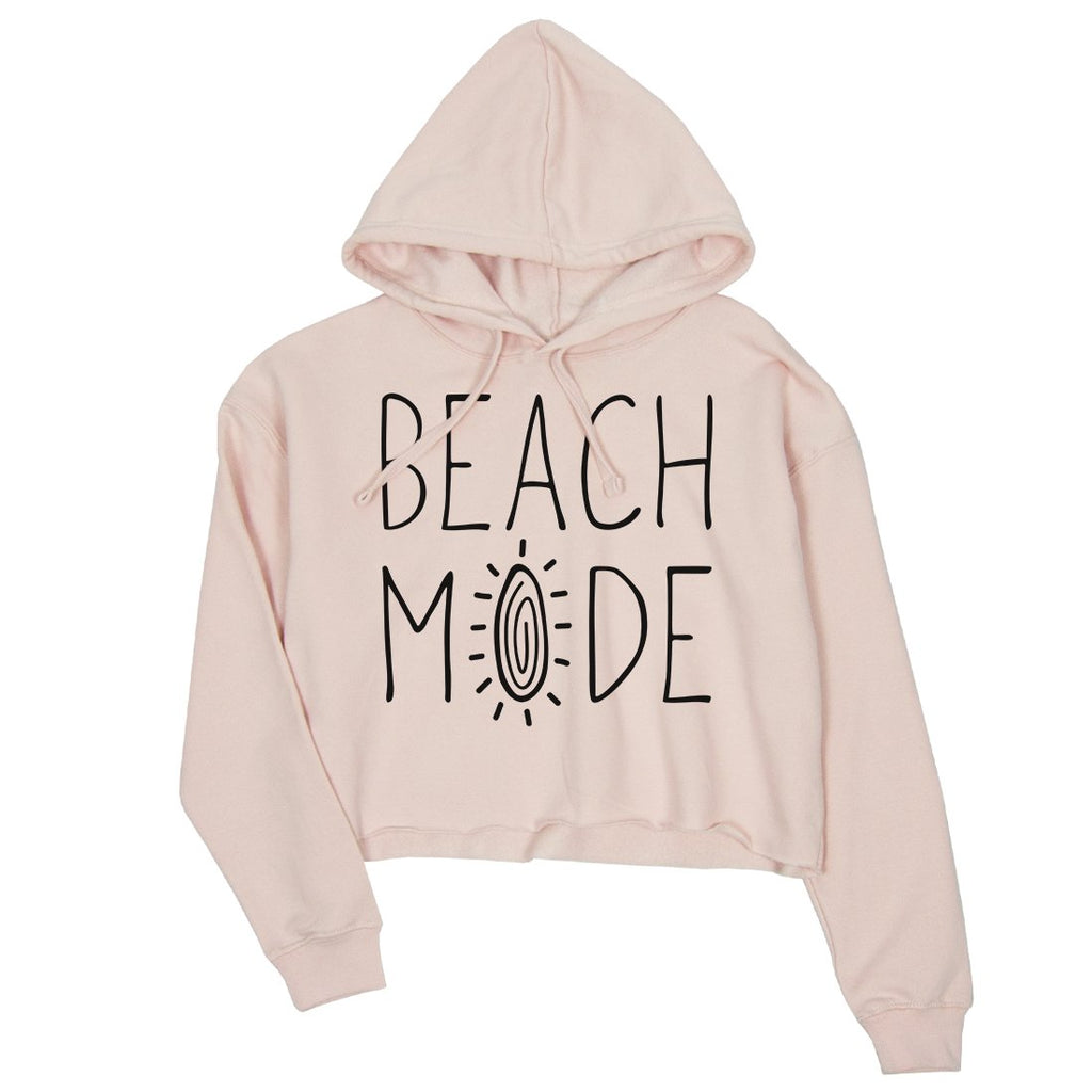 365 Printing Beach Mode Womens Crop Hoodie Cute Summer Gift Beach Vacation