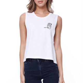 No More You In My Heart Pocket Crop Tee Junior Sleeveless Tank Top