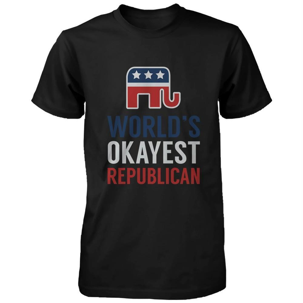 World's Okayest Republican Red White Blue 4th of July Men's Shirt