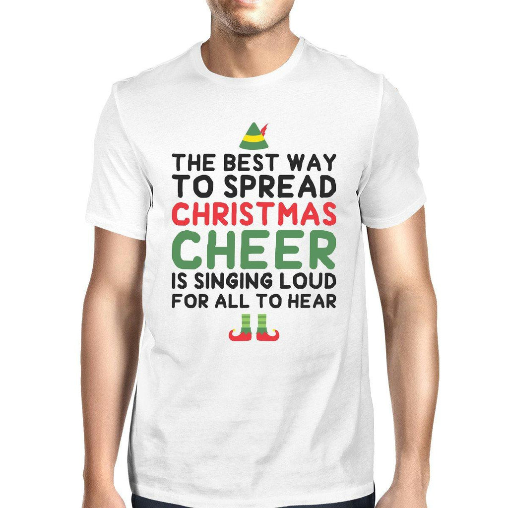 Best Way To Spread Christmas Cheer White Men's Shirt Holiday Gift