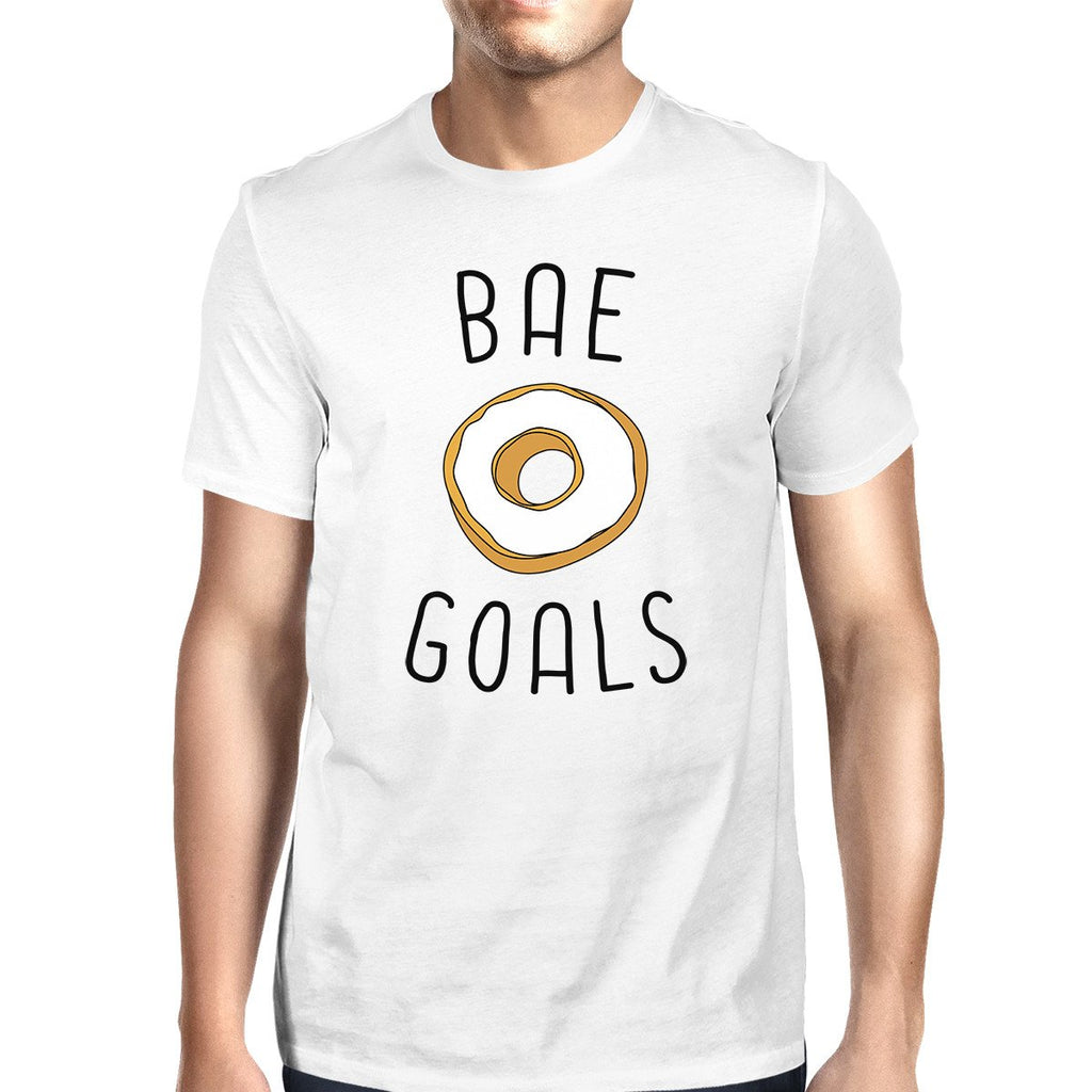 Bae Goals Men's White T-shirt Trendy Graphic Tee For His Birthday