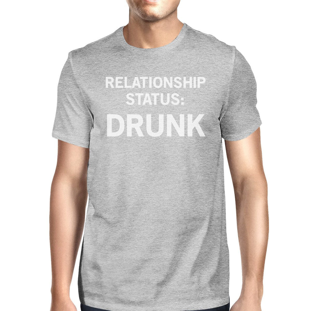 Relationship Status Mens Grey Unique Design Graphic TShirt Crewneck