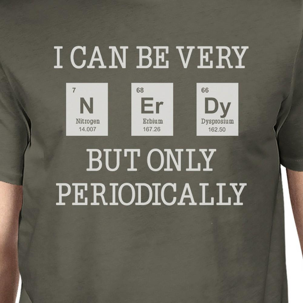Nerdy Periodically Mens Dark Grey Shirt