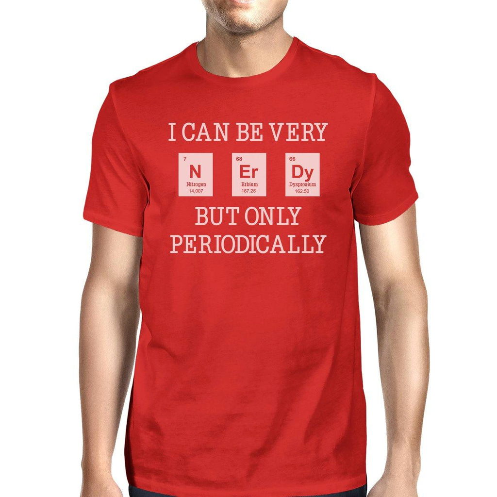 Nerdy Periodically Mens Red Shirt