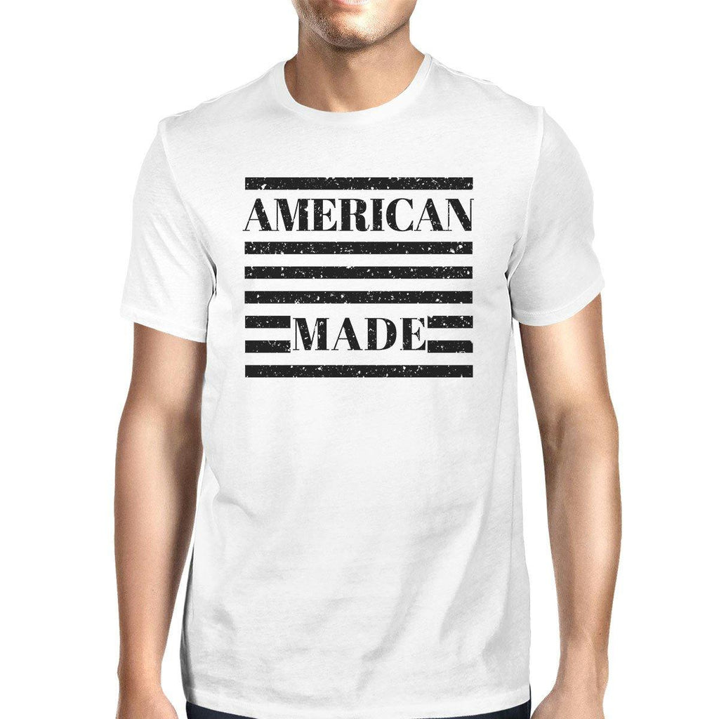 American Made Mens White Fourth Of July Decorative Graphic T-Shirt