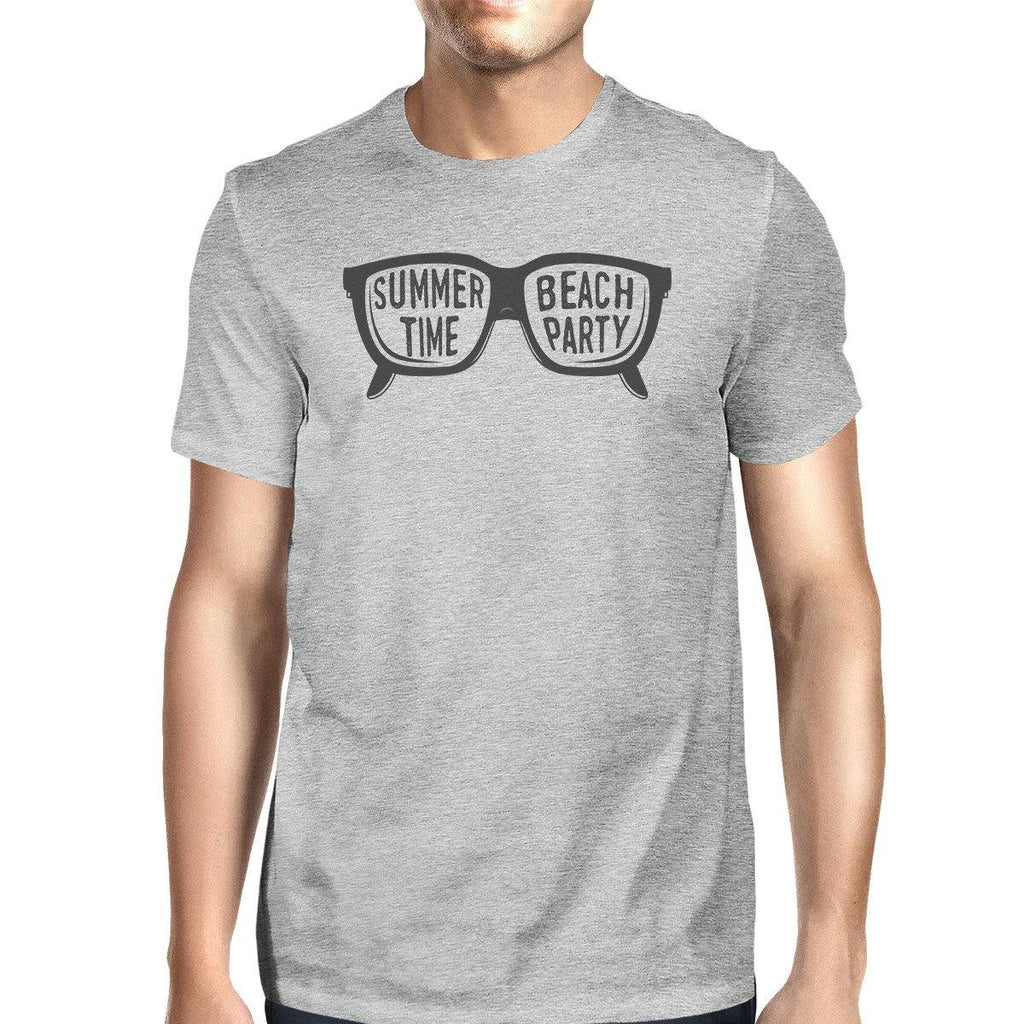 Summer Time Beach Party Mens Grey Shirt