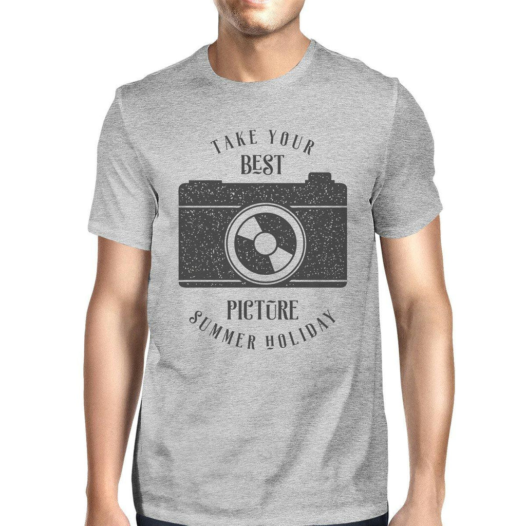 Take Your Best Picture Summer Holiday Mens Grey Shirt