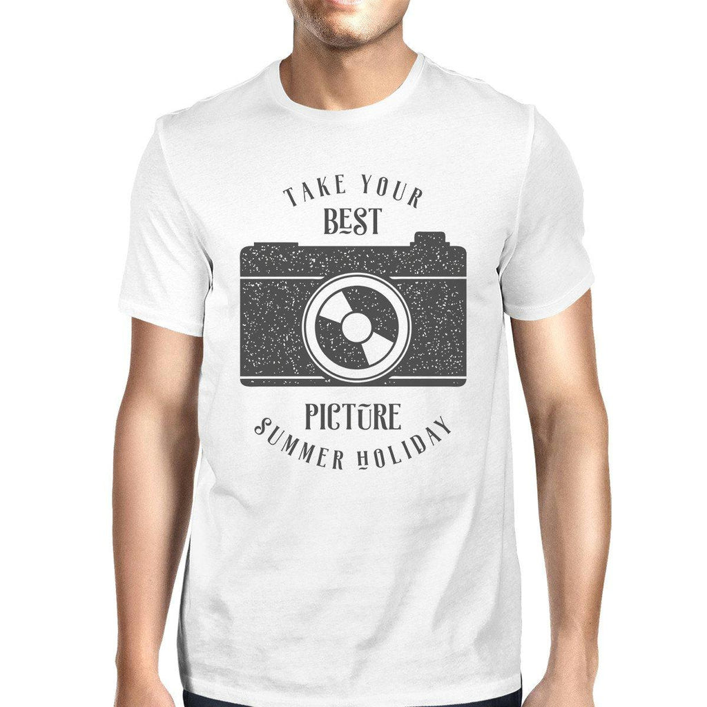 Take Your Best Picture Summer Holiday Mens White Shirt
