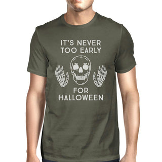 It's Never Too Early For Halloween Mens Dark Grey Shirt