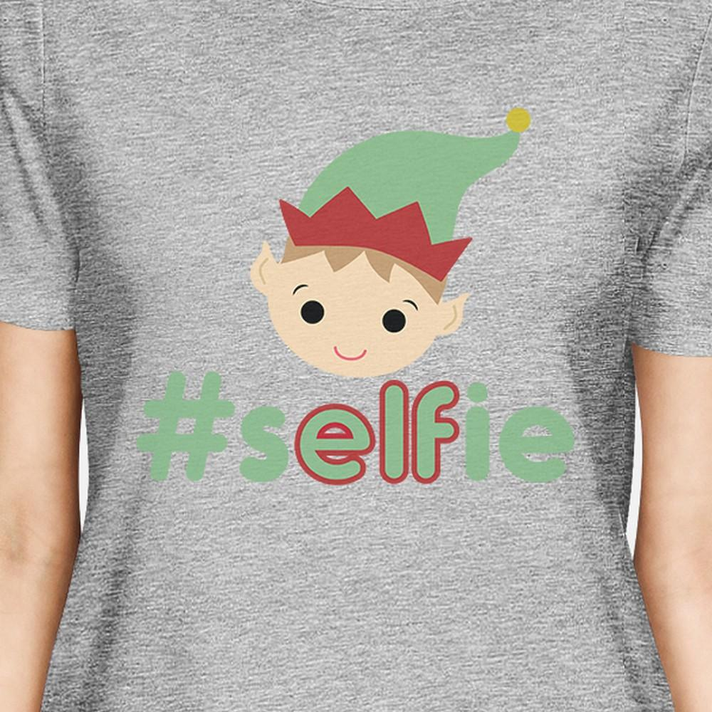 Hashtag Selfie Elf Womens Grey Shirt