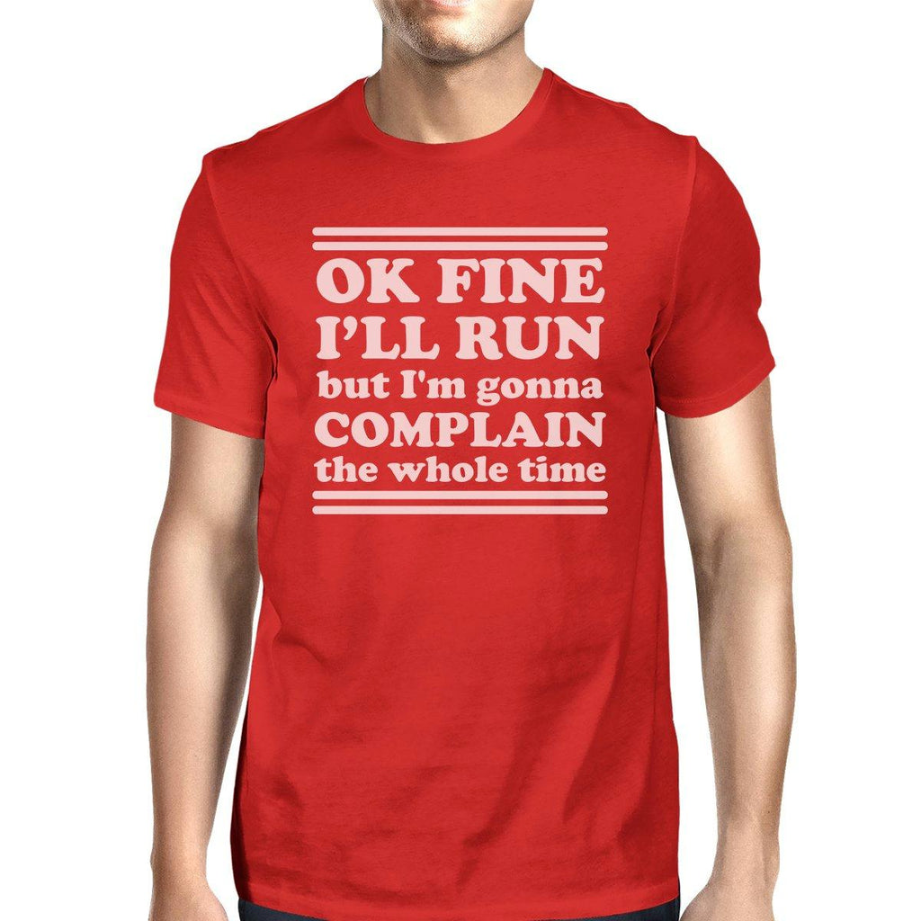 Run Complain Mens Funny Graphic Tee Short Sleeve T-Shirt For Gym