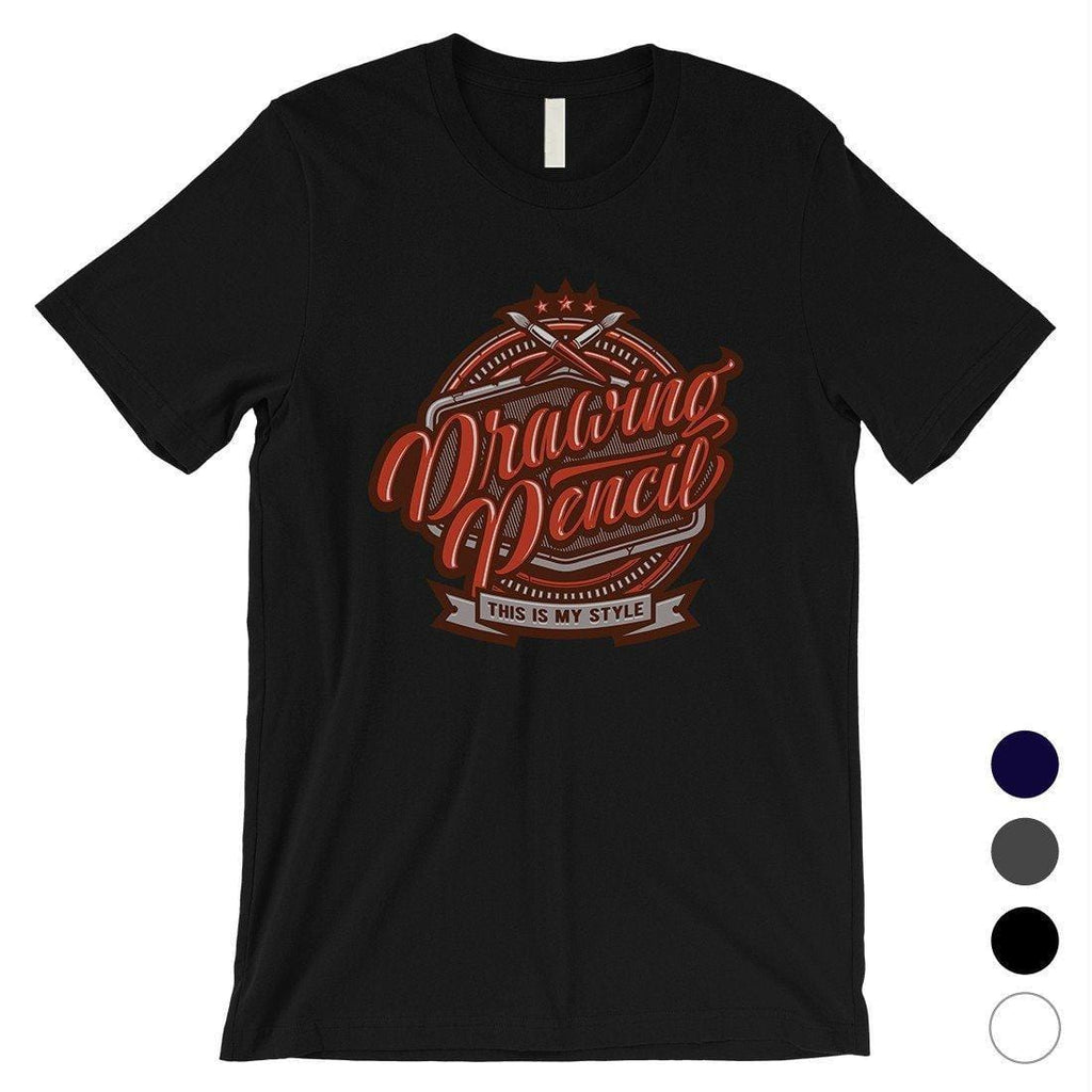 Drawing Pencil Mens Graphic Design T-Shirt Unique Drawing Gifts