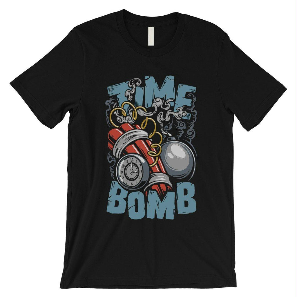 Time Bomb Mens Short Sleeves Gift T-Shirt Unique Graphic Design Tee
