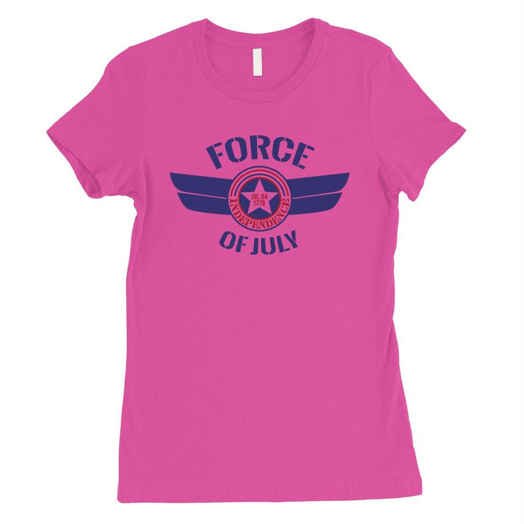 Force Of July Womens Graphic T-Shirt Cute 4th of July Outfit Gifts