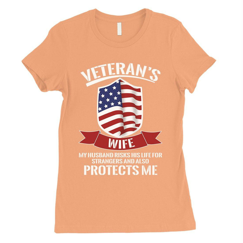Veterans Wife Shirt Womens 4th of July Outfits Gift For Army Wife
