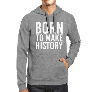 Born To Make History Unisex Heather Grey Hoodie Yuri On Ice Quote
