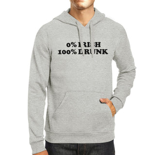 0% Irish 100% Drunk Gray Unisex Hoodie St Patricks Day Funny Top