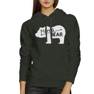 Mama Bear Dark Gray Unisex Cute Hoodie Unique Mothers Day Gift Idea