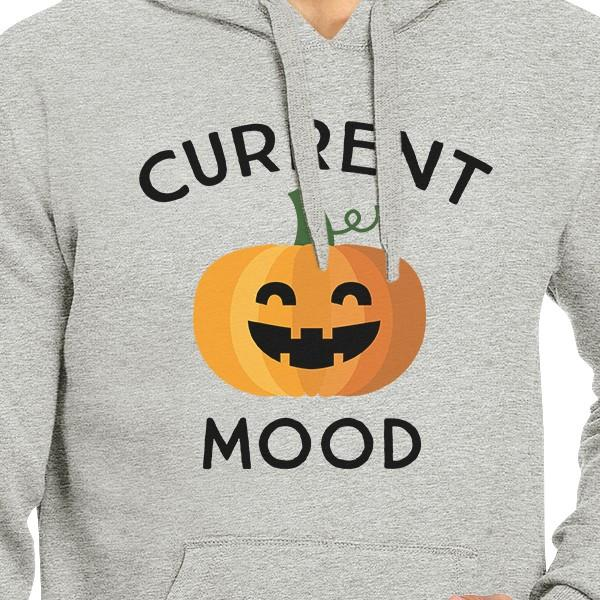 Pumpkin Current Mood Grey Hoodie