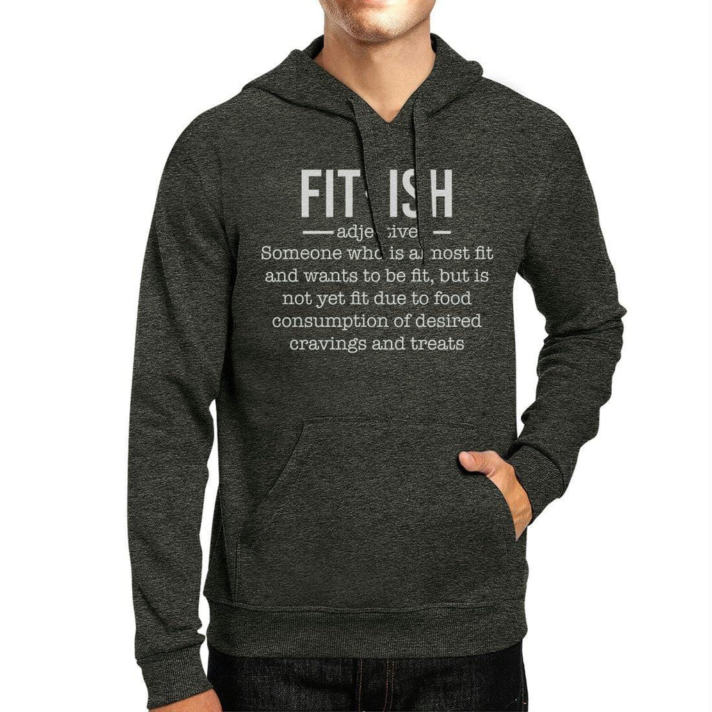 Fit-ish Unisex Pullover Hoodie Funny Work Out Hooded Sweatshirt
