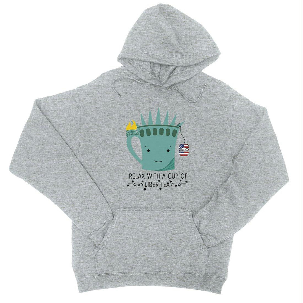 Cup Of Liber-Tea Pullover Graphic Hoodie Funny 4th Of July Graphic